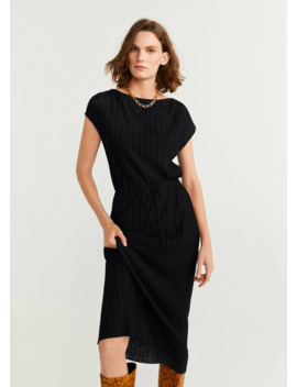 Pleated Cord Dress by Mango