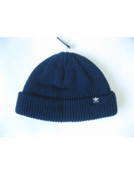 Short Trefoil Fisherman Beanie Blue D98949 by Adidas  ×