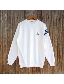 Vintage Adidas Three Stripe Embroidery Logo Sweatshirts by Adidas  ×  Vintage  ×