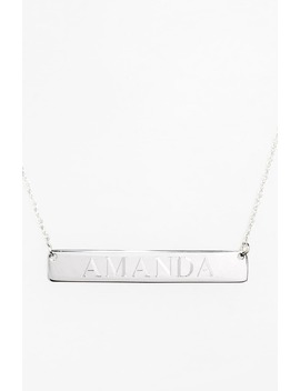 Personalized Bar Pendant Necklace by Jane Basch Designs