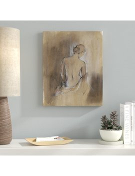 Brown 'draped Figure Ii' Wrapped Canvas Print On Canvas by Ebern Designs