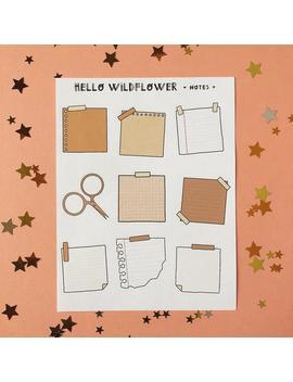 Notes Sticker Sheet —  (Bujo Stickers, Bullet Journal Stickers, Planner Sticker) by Etsy