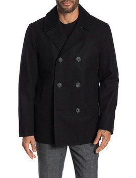 Water Resistant Wool Blend Quilted Peacoat by Nautica