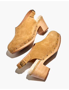 The Marlo Slingback Clog In Shearling Lined Nubuck by Madewell