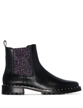 Bessie Glittered Chelsea Boots by Sophia Webster