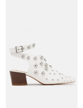 Vogue Mid Heel   White by Miss Lola