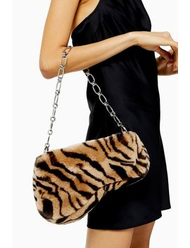 Faze Tiger Faux Fur Saddle Shoulder Bag by Topshop