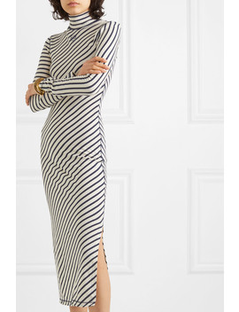 Striped Cotton Jersey Midi Dress by Loewe