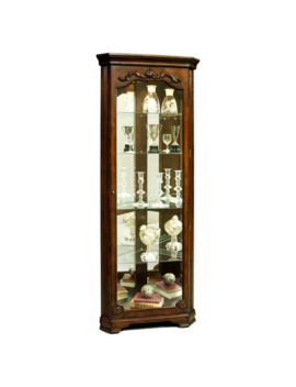 Warm Brown Corner Curio Cabinet   27 X 15 X 75 by Generic