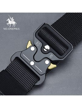 No.Onepaul Tactical Belt Military High Quality Nylon Men's Training Belt Metal Multifunctional Buckle Outdoor Sports Hook New by Ali Express.Com
