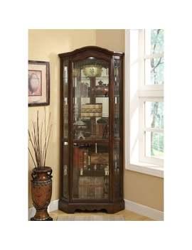 "Coaster Company Brown Finish Glass 5 Shelf Corner Curio Cabinet   33"" X 22.50"" X 83"" by Coaster"