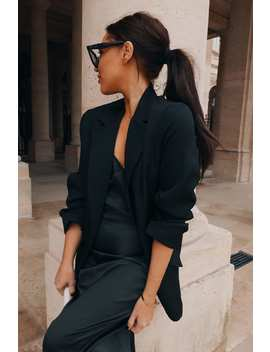 Lorna Luxe Black 'midnight In Paris' Blazer by In The Style