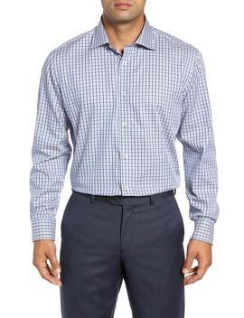 Check Trim Fit Dress Shirt by Bugatchi