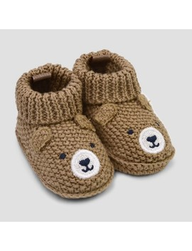 Baby Boys' Knitted Bear Slipper   Just One You® Made By Carter's Brown Newborn by Shop This Collection