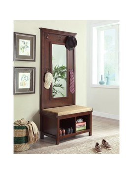 "Copper Grove Moens Walnut Hall Tree   34.25"" X 19"" X 76"" by Copper Grove"