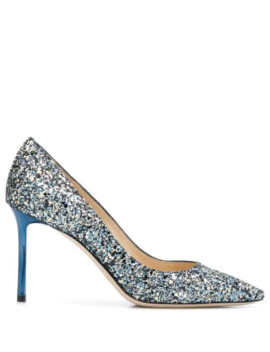 Romy 100mm Sequinned Pumps by Jimmy Choo