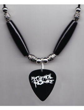 My Chemical Romance Black Guitar Pick Necklace Mcr by Ebay Seller
