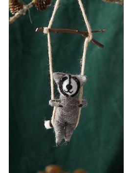 Felt Swinging Raccoon by Anthropologie