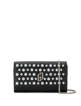Stud Embellished Faux Leather Clutch by Liu Jo
