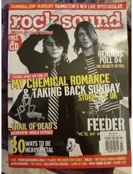 My Chemical Romance Taking Back Sunday Signed Rock Sound Uk Magazine Gerard Adam by Ebay Seller