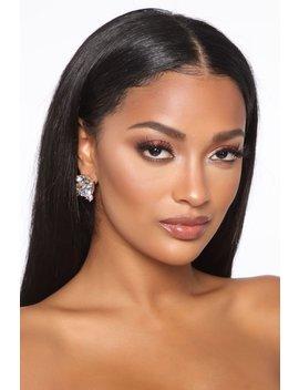 Not Yours Stud Earrings   Clear by Fashion Nova
