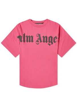 Palm Angels Front Logo Oversized Tee by Palm Angels