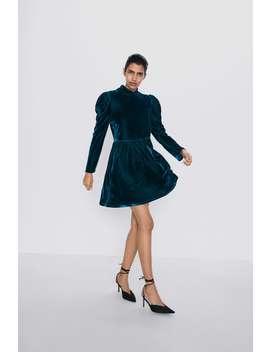 Vestito In Velluto by Zara