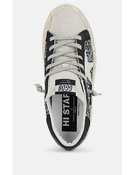 Women's Hi Star Leather & Suede Sneakers by Golden Goose