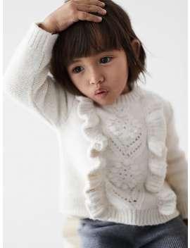 Openwork Ruffled Sweater by Zara