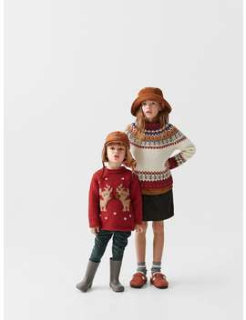 Reindeer Knit Sweater by Zara