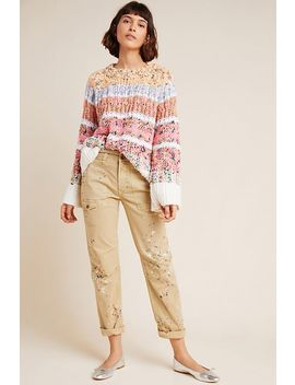 Painterly Cargo Pants by Anthropologie