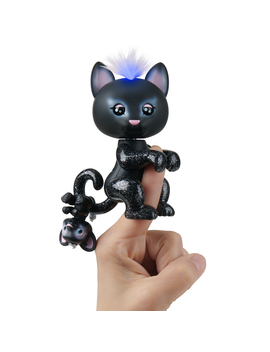 Fingerlings Light Up Baby Black Panther And Mini   Allec And Ronni   Interactive Toy by Wow Wee