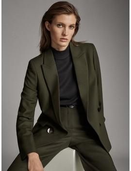 100% Wool Suit Blazer by Massimo Dutti