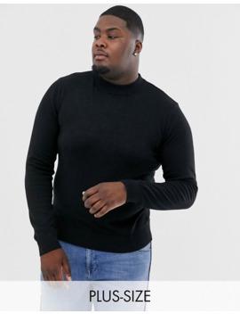 Brave Soul Plus 100% Cotton Turtleneck Sweater by Asos