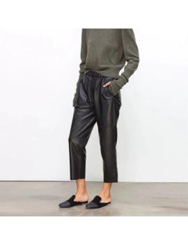 Real Leather Pants Women's Leather Trousers High Waist Harem Pants Plus Size 2019 New Elastic Waist Streetwear Pants Women by Ali Express.Com