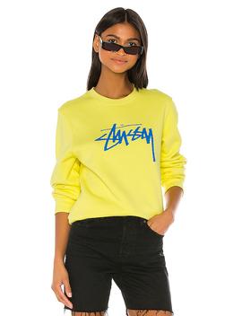 Stock Sweatshirt In Lemon by Stussy
