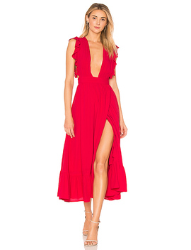 Mistwood Dress In Red by Majorelle