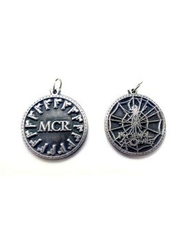 Mcr M.C.R. My Chemical Romance Keychain Keyring Key Doble Sided Pewter Silver by Ebay Seller