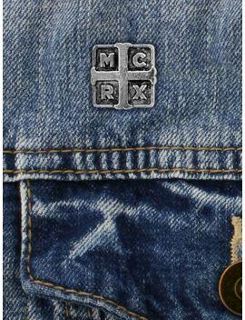 My Chemical Romance Badge Alchemy Rocks Cross Pewter Pin Silver 2x2cm by Ebay Seller