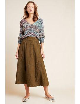 Bella Midi Skirt by Anthropologie