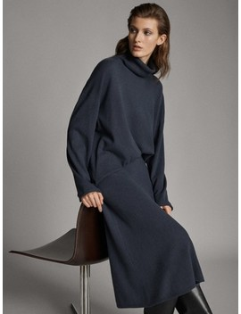 Knit A Line Skirt by Massimo Dutti