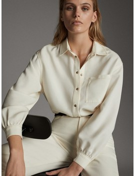 Loose Fitting Shirt With A Pocket by Massimo Dutti