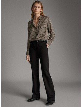 Bootcut Trousers by Massimo Dutti