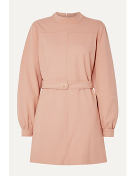 Belted Twill Mini Dress by Victoria, Victoria Beckham