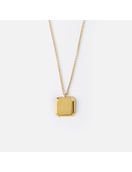 Square Disc Necklace by Orelia