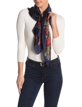 English Rose & Plaid Silk Square Scarf by Vince Camuto