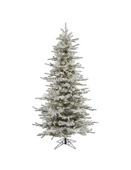 Flocked Slim Sierra 4.5' White Fir Artificial Christmas Tree With 250 Clear/White Lights by The Holiday Aisle