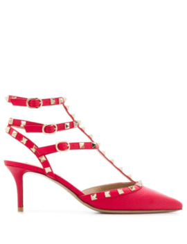 Valentino Garavani Rockstud Caged 65mm Pumps by Valentino