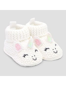 Baby Girls' Bootie Slippers   Just One You® Made By Carter's Pink/White Newborn by Just One You Made By Carter's
