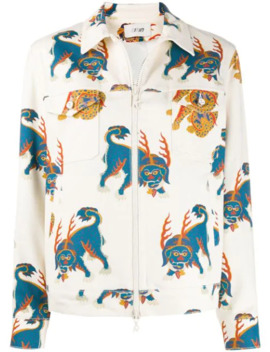 Mythical Creature Print Jacket by Kirin